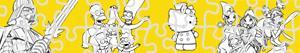 Coloriages Puzzles des Personnages de BD à colorier
