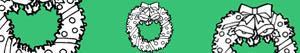Coloriages Couronnes e guirlandes de Noël à colorier