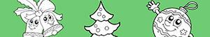 Coloriages Décorer l'arbre de Noël à colorier