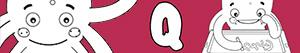 Coloriages Prénoms de Garçon avec Q à colorier
