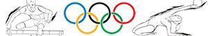 Coloriages Sports olympiques. Athlétisme. Gymnastique. Épreuves combinées à colorier